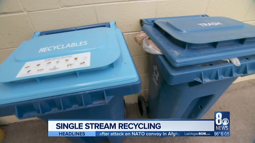 Las Vegas switches over to single stream recycling: Here's how it works