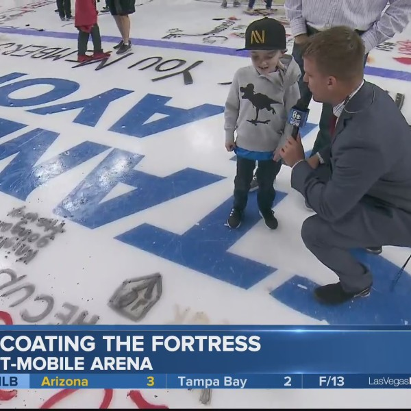Golden Knights fans coat 'The Fortress'