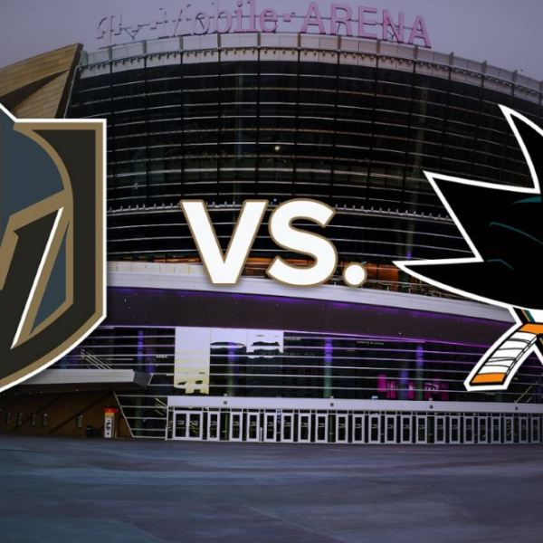 Knights Vs. Sharks at T-Mobile Arena Graphic