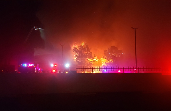 Paradise office building fire