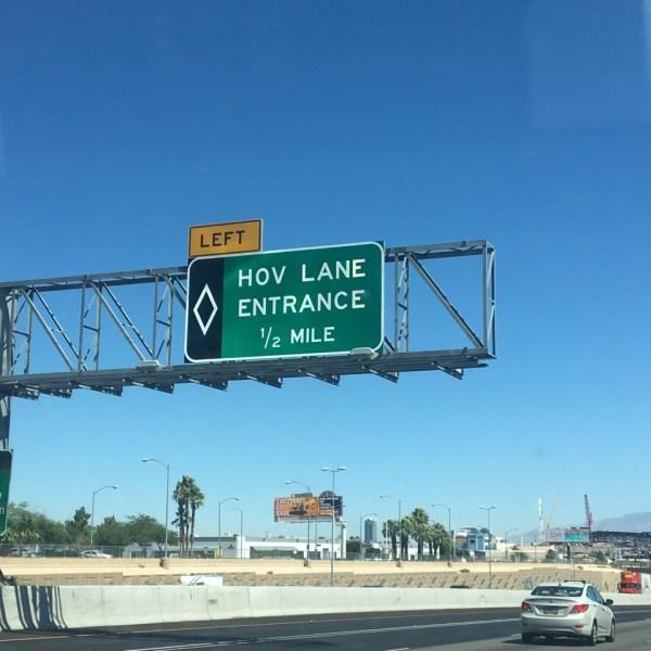 HOV Lane restrictions