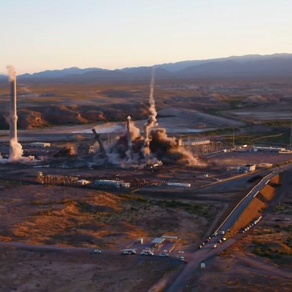 NV Energy Power Plant demolished